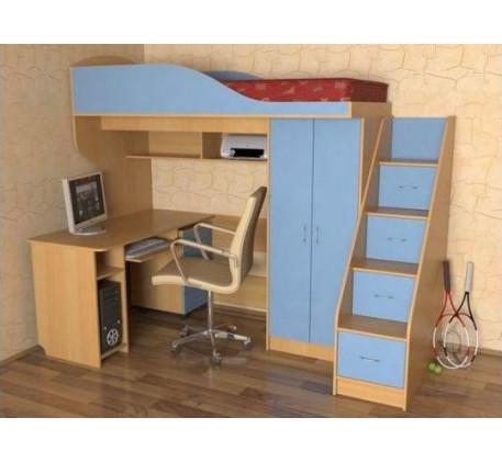 Кровать Квартет-1 для мальчика, спальное место 190х80 см