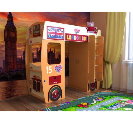 Детская кровать-чердак лондонский автобус (Славмебель)