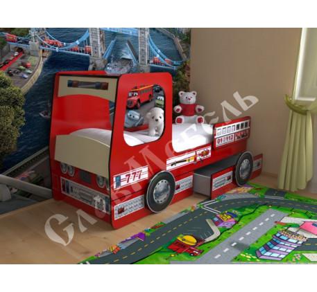 Кровать-машина Пожарная, спальное место 160х70 см