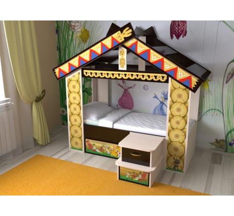 Кровать-домик Славмебель, спальное место 160х70 см