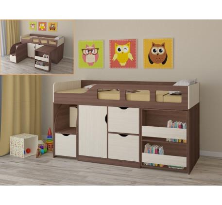 Детская кровать с шкафом и столом Астра-8, спальное место 190х80 см