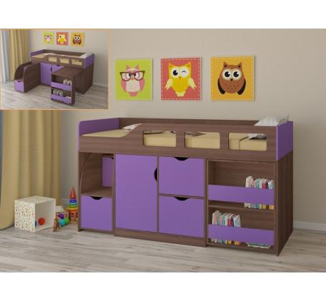 Кровать-чердак для детей от года Астра-8, спальное место 190х80 см