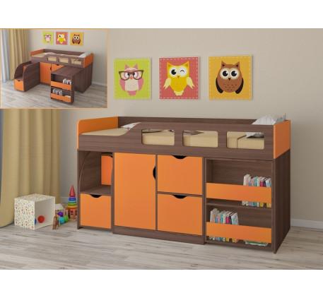 Кровать-чердак для детей от 2 лет Астра-8, спальное место 190х80 см