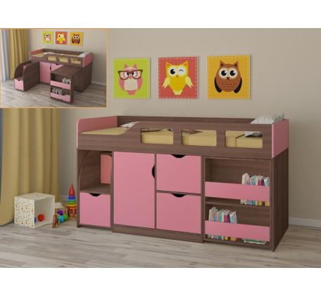 Кровать-чердак для девочки Астра-8 с рабочей зоной, спальное место 190х80 см