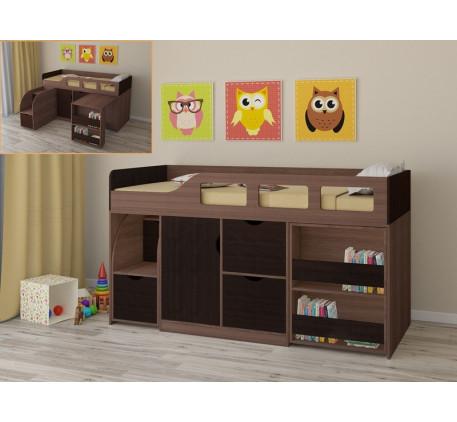 Детская кровать-чердак от 3 лет Астра-8 с бортиками, спальное место 190х80 см
