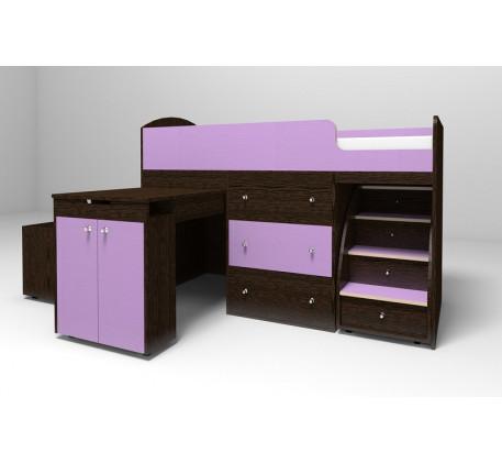 Кровать-чердак Малыш, спальное место кровати 160х70 см