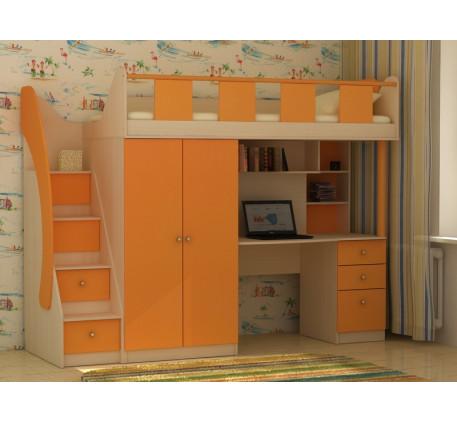 Детская кровать Фаворит-1, спальное место чердака 200х80 см