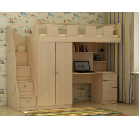 Детская кровать-чердак Фаворит-1, спальное место 200х80 см