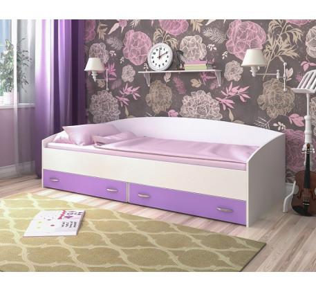 Кровать с выдвижными ящиками, спальное место 200х90 см
