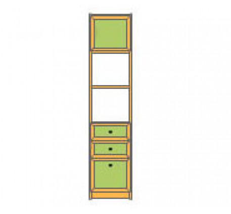 Секция 1-дверная с 3 ящиками