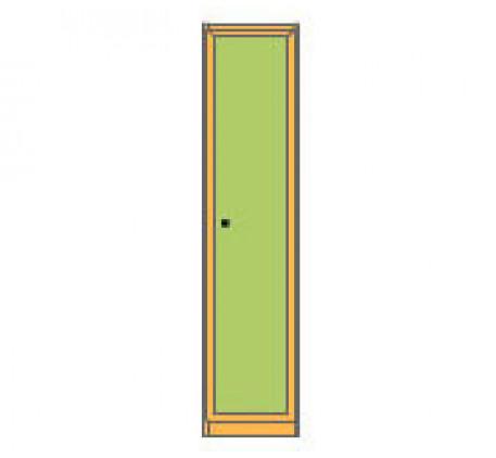 Секция 1-дверная закрытая с полками