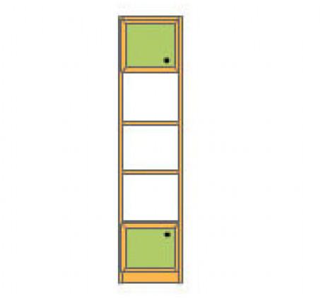 Секция 2-дверная с 2 полками