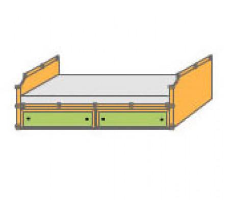 Кровать с 2 ящиками (спальное место 1900*900 мм.)