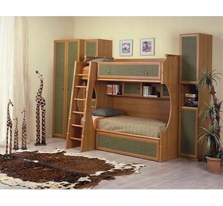 Кровать 2-ярусная левая (спальное место 1900*900 мм.)