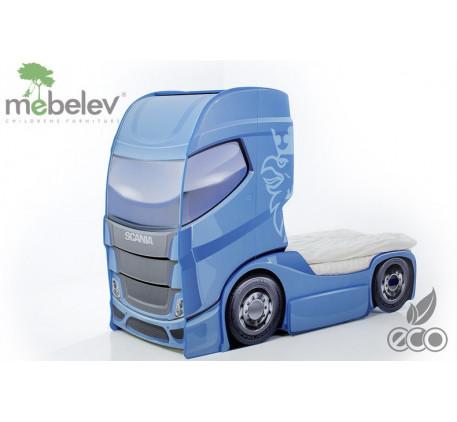Детская кровать-грузовичок Скания-1 (Мебелев), спальное место кровати 180х90 см