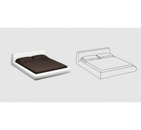 Кровать с основанием, спальное место 1600*2000 мм. (съёмный чехол)