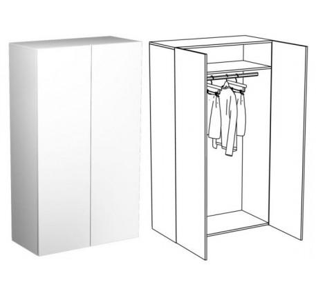 Шкаф для одежды (с 2 зеркалами)