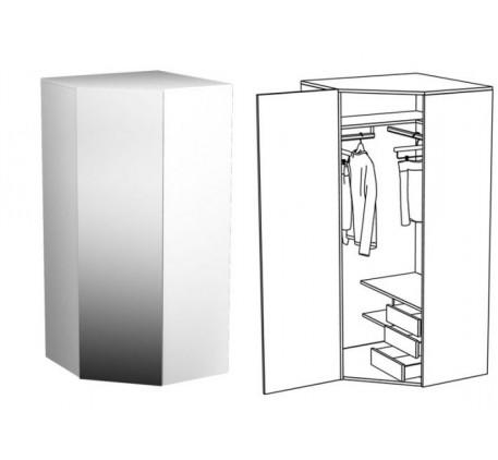 Шкаф для одежды угловой (с зеркалом)