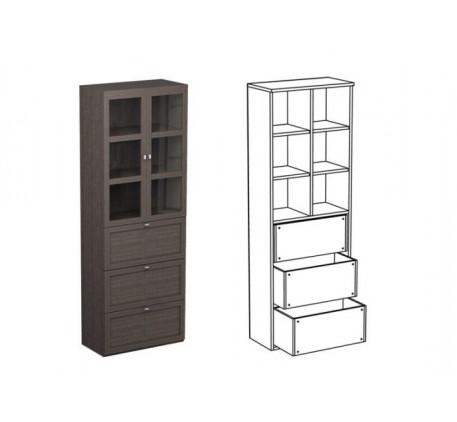 Шкаф двойной НД2 + фасад НФ11д + НФ10п