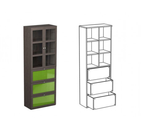 Шкаф двойной НД2 + фасад НФ11ц + НФ10п