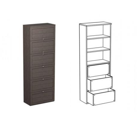 Шкаф двойной НД3 + фасад НФ11д + НФ12д
