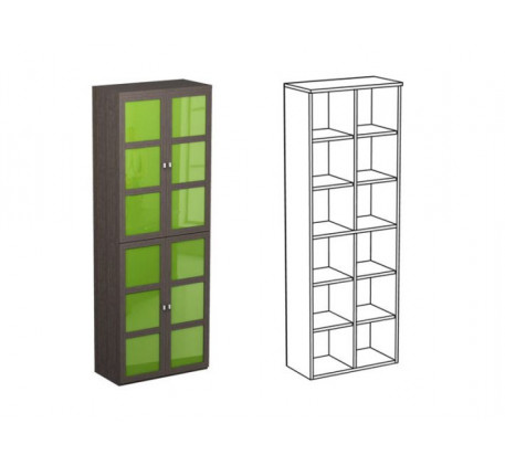 Шкаф двойной НД4 + фасад НФ10ц(2)