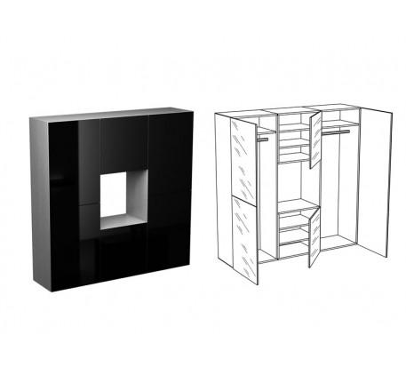 Шкаф для одежды КМ-1 (Венге, Дуб, Тик)