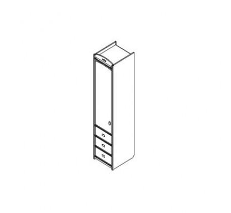 Колонка для одежды с 3-мя ящиками (левая)