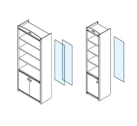 Дверь стеклянная для стеллажей 337.17, 337.18.