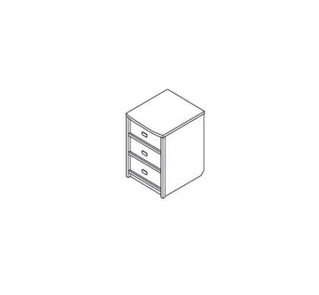Тумба 3 ящика (без крышки)
