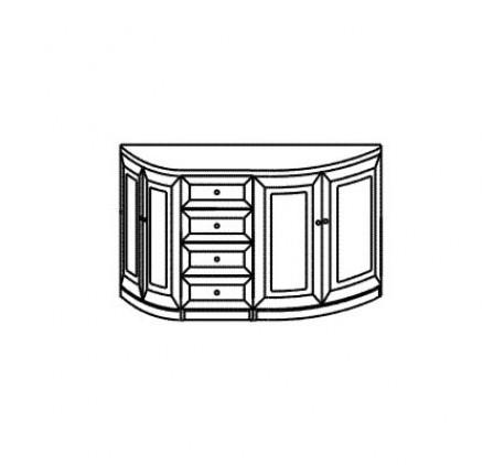 Тумба 2987 с 4 ящиками и 4 дверьми