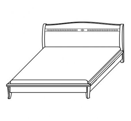 Кровать 2551, спальное место 160х200 см