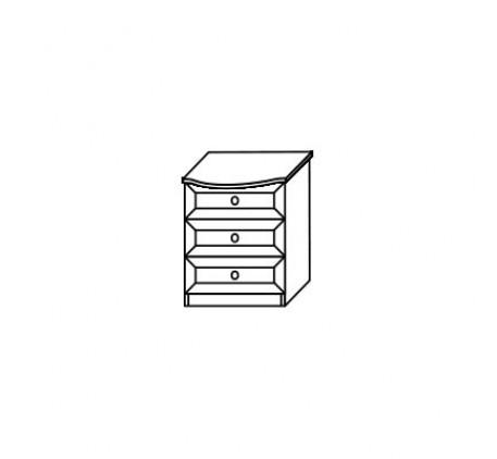 Тумба 2553 прикроватная (3 ящика)