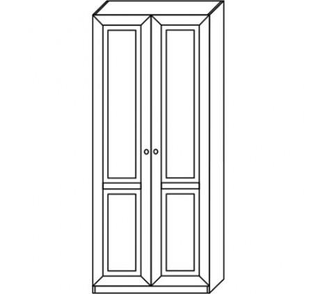 Шкаф 2927 для одежды и белья (2 двери)