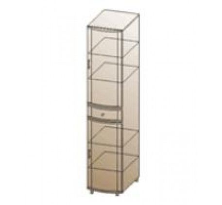 Шкаф с 2 дверьми и ящиком ШК-141