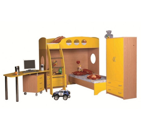 Детская мебель Тандем: Кровать-чердак (В1816*Ш1972*Г1300) -8 280 р., Кровать нижняя (В350*Ш1932*Г832..