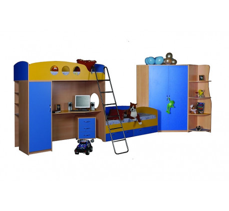 Детская мебель Стелла: Кровать-чердак (В1916*Ш1932*Г832) -13 800 р., Тумба (В630*Ш436*Г490) -4 780 р..