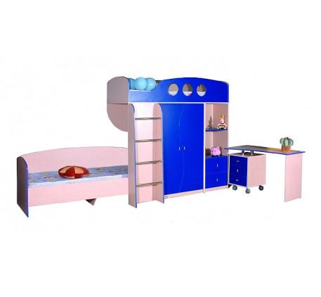 Детская мебель Фрегат: Кровать нижняя (В750*Ш1942*Г832) -4 380 р., Кровать-чердак Модуль-1 (В1916*Ш1..