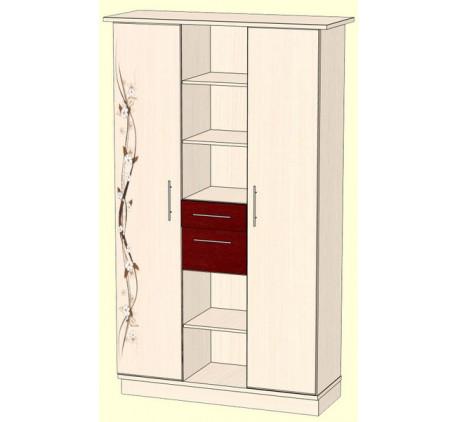 Шкаф 1200 для белья (внутреннее наполнение: полки, 2 выдвижных ящика)