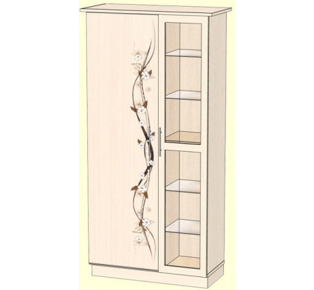 Шкаф 1000 для одежды (внутреннее наполнение: стеклополки, выдвижная штанга)
