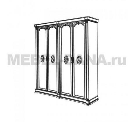 Шкаф 4-х дверный Атланта арт.1-04=СГ