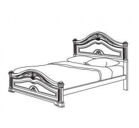 Кровать №4/0 160Х200 арт.3-КР-4/0 Серия №3