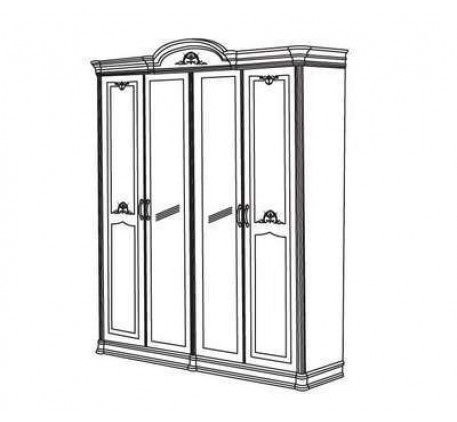 Шкаф 4-х дверный с 2-мя зеркалами Серия №3 арт.3-05