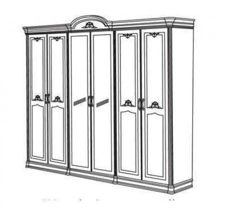Шкаф 6-и дверный с 2-мя зеркалами Серия №3 арт.3-07