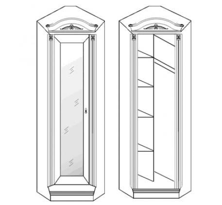 Шкаф угловой с зеркалом 2856
