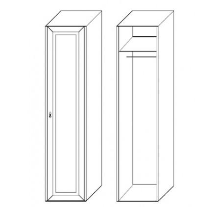 Шкаф 1 дверный 2857 (карниз и цоколь подбираются отдельно)