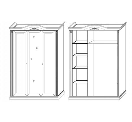 Шкаф 3 дверный с зеркалом 2789