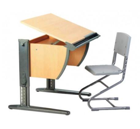 Набор растущей мебели Дэми: парта и стул. Столешница: 750x550 мм., Высота подъема столешницы: 530-81..