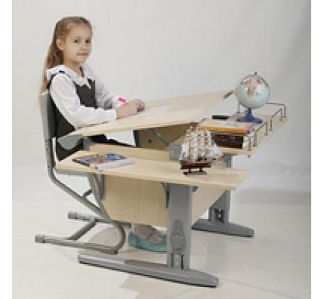 Набор растущей мебели Дэми: парта,стул, приставка и боковая приставка. Столешница: 750x550 мм., Высо..