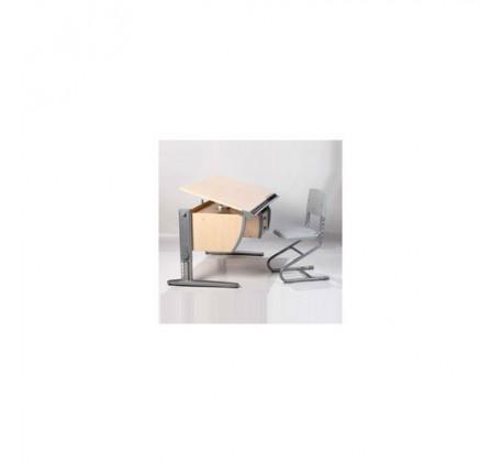 Набор растущей мебели Дэми: парта с тумбой и стул. Столешница: 120x620 мм., Высота подъема столешниц..